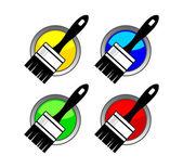 Paintbrush icon — Stock Vector