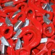Red hooks — Stock Photo