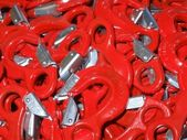 Red hooks — Foto Stock