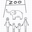 Royalty-Free Stock Vector Image: Family in zoo