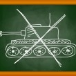 Stock vektor: Drawing of tank on blackboard