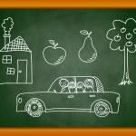 Sketches on blackboard — Stock Vector #9803499