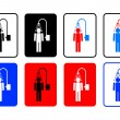 Shower icons — Vettoriale Stock #9902209
