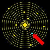 Symbol sluneční soustavy — Stock vektor