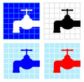 Faucet icons — Stock Vector