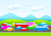 Traffic in nature — Stock Vector