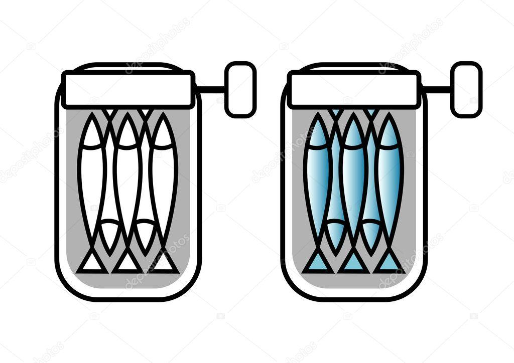 Bo te de conserve de sardines image vectorielle anthonycz 9902619 - Conserve de sardines maison ...