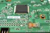 Detalj av elektroniska komponenter — Stockfoto