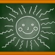Drawing of sun — Stock Vector