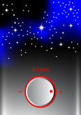 Volume knob with universe — Stock Vector
