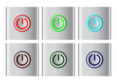 Power button icons — Stock Vector