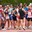 Stock Photo: Competitors waiting for running