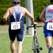 Senior competitor, triathlon — Stock Photo #9728569