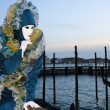 Woman with typical attitude at the Venice Carnival - Stock Photo