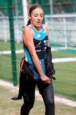 Coureur féminin, triathlon — Photo