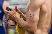 Number on the arm — Stock fotografie