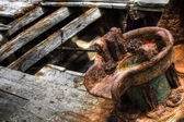 Close-up of a shipwreck — Stock Photo