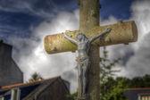 A stone cross — Stock Photo