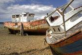 Two shipwrecks — Stock Photo