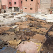 Skins in the berber tannery — Stock Photo