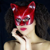 Sensual and attractive woman wearing a mask. — Stockfoto