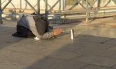 Portrait of a beggar — Stock Photo