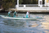 Team of senior rowers, Venice. — Stock Photo