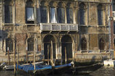 Very old facade of a historic building along the Grand Canal. — Stock Photo