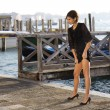 Stock Photo: Female fashion model at Venice