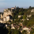 Rocamadour with the morning light. - Stock Photo