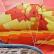 Hot air balloon inflating — Stock Photo