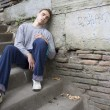 Stock Photo: Homeless mresting.