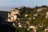 Rocamadour with the morning light. — Stock Photo