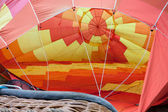 Hot air balloon inflating — Stockfoto