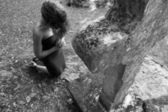 Femme en prière — Photo