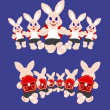 Stock Vector: Bunnies running