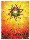 солнечный праздник векторные иллюстрации — Cтоковый вектор