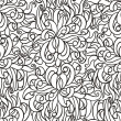 Royalty-Free Stock Vector Image: Floral seamless line vector wallpaper