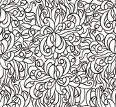 Floral seamless line vector wallpaper — Stock Vector