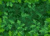 Oak leaves seamless texture — Stock Vector