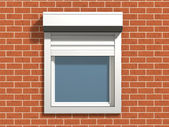 Window on the wall — Stock Photo