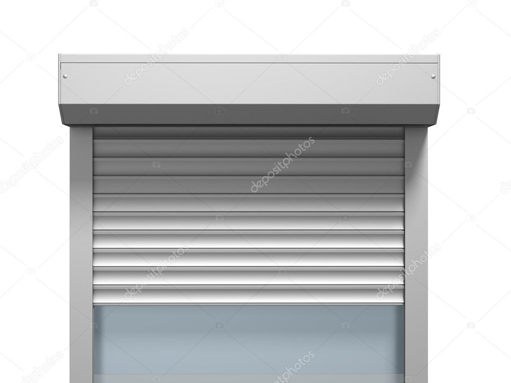 Window with roller shutter three dimensional render — Stock Photo #9812777