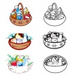 Stock Vector: Baskets