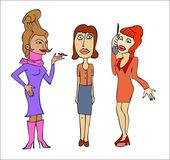 Three women — Stock Vector