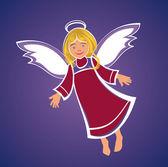 Flygande ängel — Stockvektor