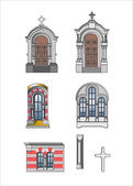 Architect elements of castle — Stock Vector