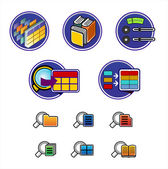 Computer icons — Vector de stock
