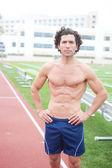 Mužské běžec stadionu — Stock fotografie