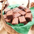 Basket of brownies - Stock Photo