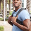 Young African American college student - Stock Photo